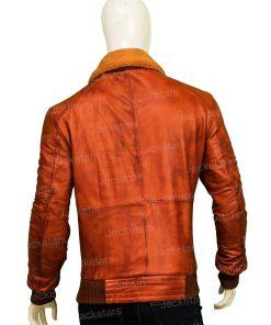 Mens Camel Brown Leather Jacket