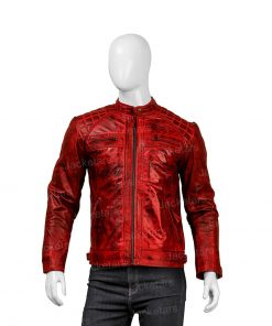 Mens Red Shoulder Design Leather Jacket.jpg