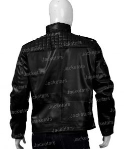 Mens Shoulder Design Black Jacket