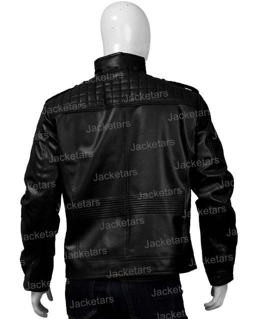 Mens Shoulder Design Black Jacket
