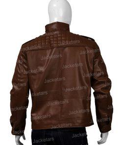 Mens Shoulder Design Dark Brown Jacket