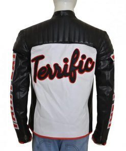 Mister Terrific Arrow Black Leather Jacket