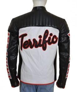 Mister Terrific Arrow Black Leather Jacket