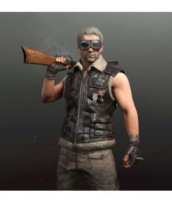 PUBG Shearling Brown Leather Vest