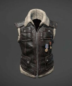 PUBG Shearling Leather Vest