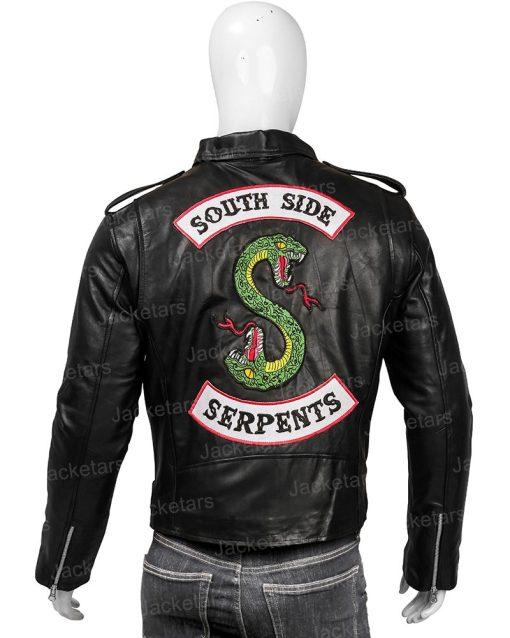 Riverdale Southside Serpent Black Leather Jacket