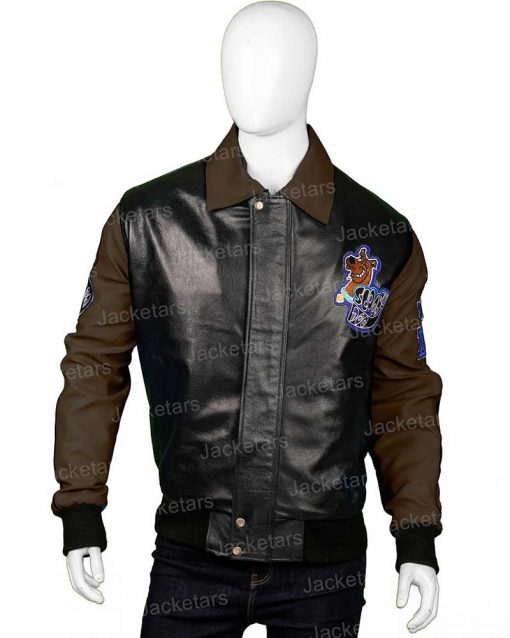 Scooby Doo Brown Leather Jacket