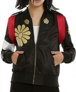 Suicide Squad Katana Bomber Leather Jacket