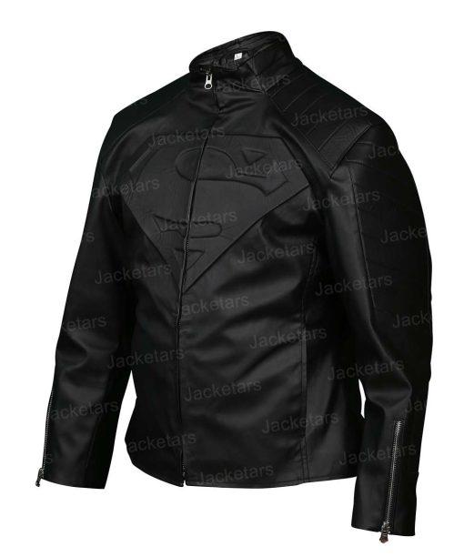 Superman Smallville Black Leather Jacket.jpg