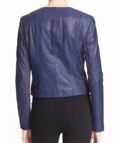 The Arrow Felicity Smoak Blue Leather Jacket