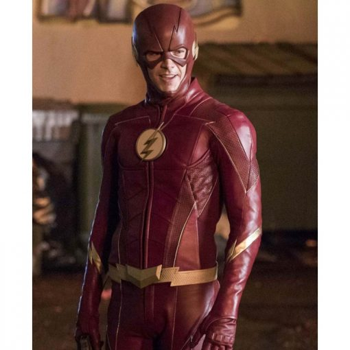 The Flash Season 4 Barry Allen Maroon Leather Jacket