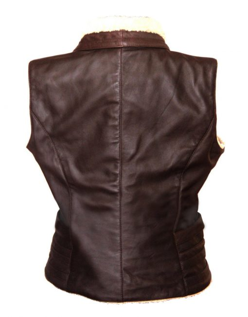 The Walking Dead Andrea Harrison Brown Leather Vest