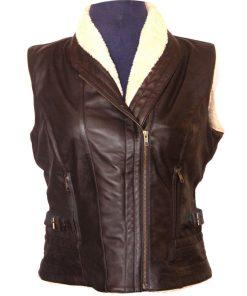 The Walking Dead Andrea Harrison Leather Vest