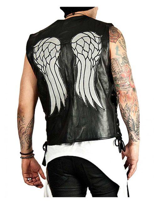 The Walking Dead Daryl Dixon Leather Wings Vest