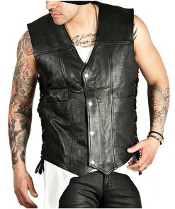 The Walking Dead Daryl Dixon Black Leather Wings Vest