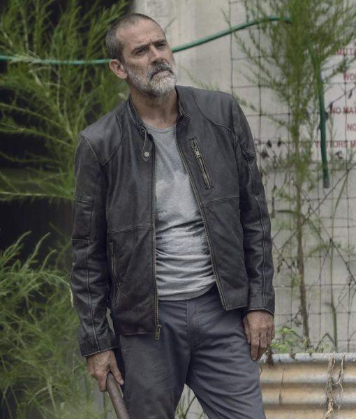 The Walking Dead Negan Black Leather Jacket