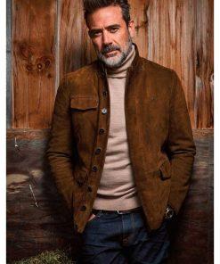 The Walking Dead Negan Distressed Brown Leather Jacket