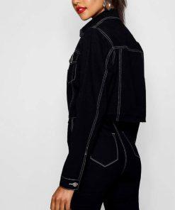 13 Reasons Why Jessica Davis Black Cropped Denim Jacket