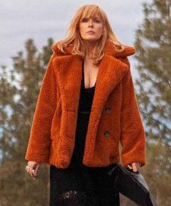 Yellowstone Beth Dutton Orange Fur Coat