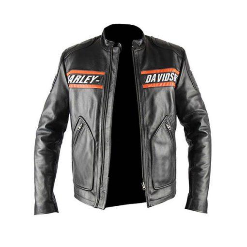 Bill Goldberg Harley Davidson Biker Jacket