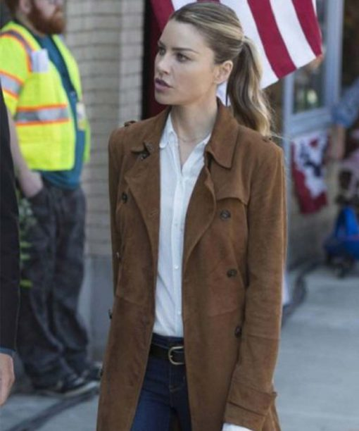 Chloe Decker Lucifer Brown Coat