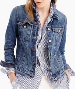 Hannah Baker 13 Reasons Why Blue Denim Jacket