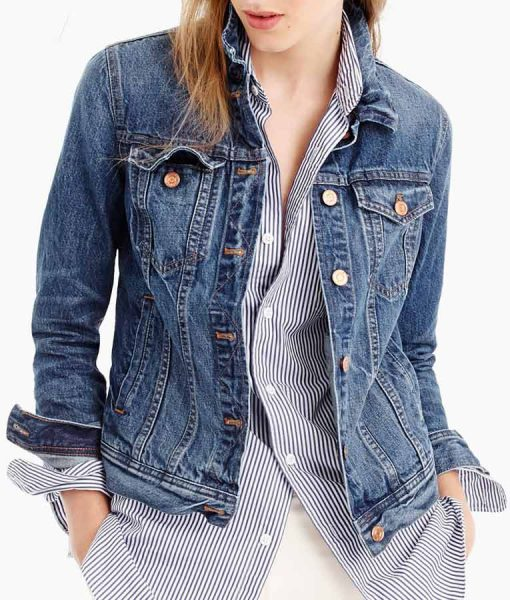 Hannah Baker 13 Reasons Why Blue Denim Jacket