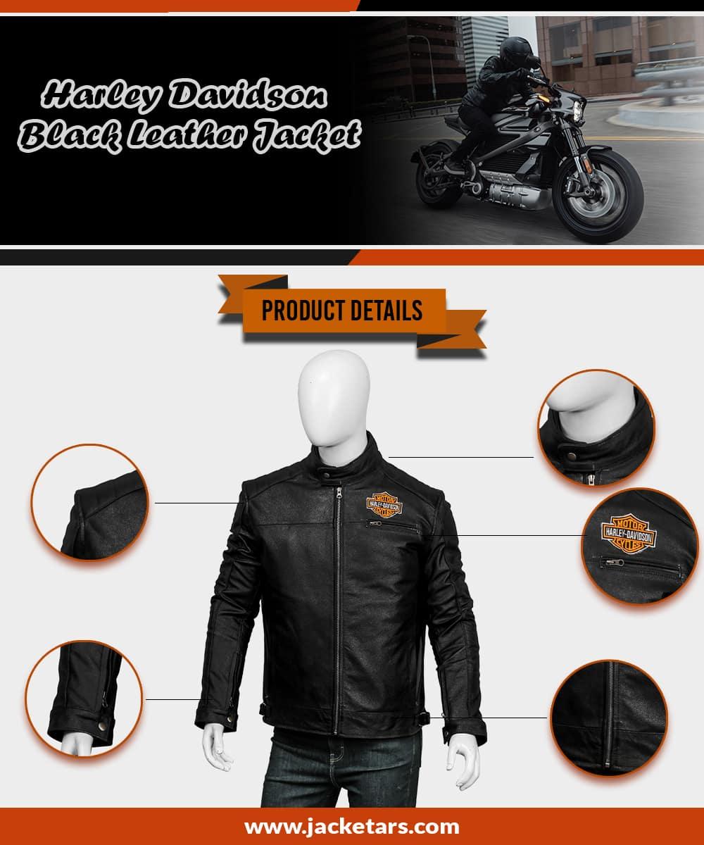 arley-Davidson-Black-Leather-Jacket