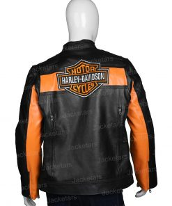 Harley Davidson Motorcycle Black Leather Jacket