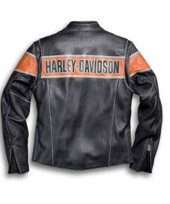 Harley Davidson Victory Lane Black Leather Jacket