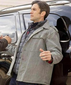 Jamie Dutton Yellowstone Grey Cotton Jacket