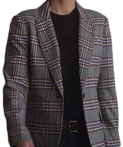 Lucifer Chloe Decker Checked Coat