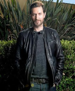 Lucifer Morningstar Black Leather Jacket