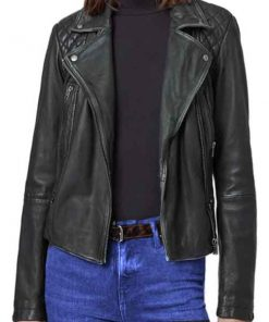 Lucifer S05 Chloe Decker Black Leather Jacket