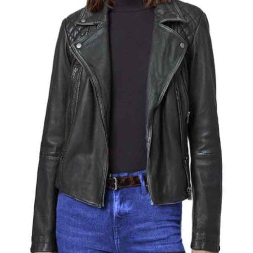 Lucifer S05 Chloe Decker Black Leather Jacket