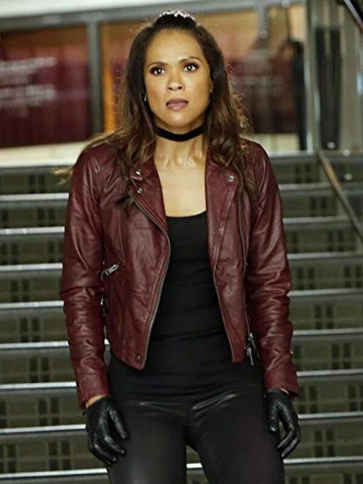 Mazikeen Lucifer S01 Maroon Leather Jacket