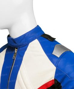 Overwatch Soldier 76 White Leather Jacket