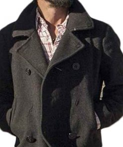Ryan Bingham Yellowstone Grey Pea Coat