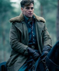 Wonder Woman Steve Trevor Brown Fur Coat