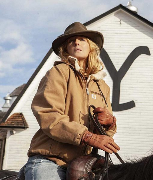 Yellowstone Beth Dutton Brown Bomber Jacket