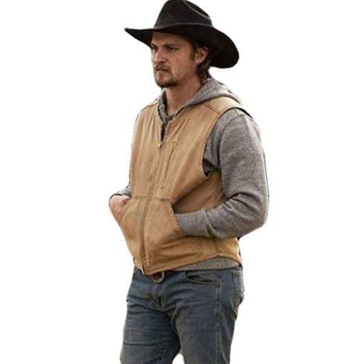 Yellowstone Kayce Dutton Brown Vest