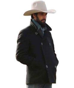 Yellowstone Ryan Bingham Grey Pea Coat
