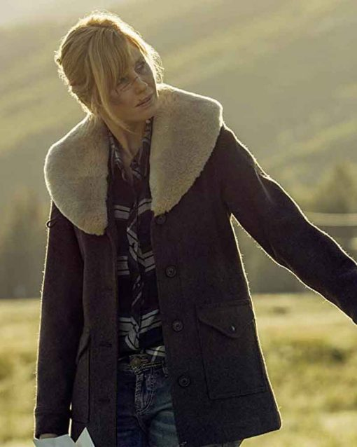 Yellowstone S02 Beth Dutton Brown Coat