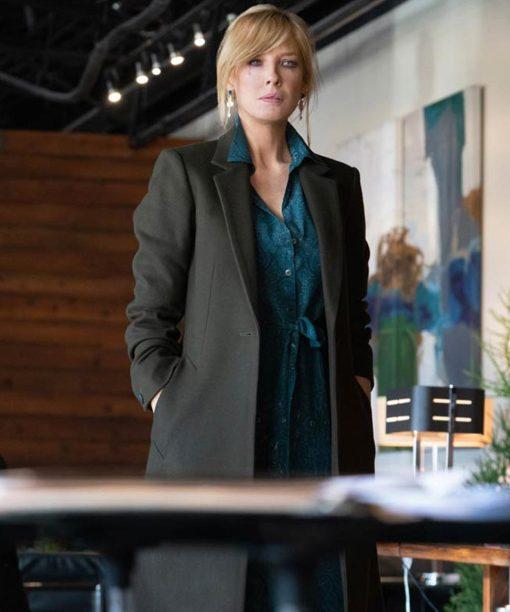 Yellowstone S03 Beth Dutton Black Coat