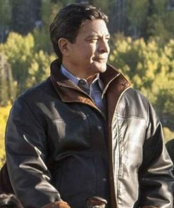Thomas Rainwater Yellowstone Brown Leather Jacket