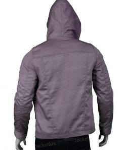 Amy Bendix The Punisher Purple hooded Jacket