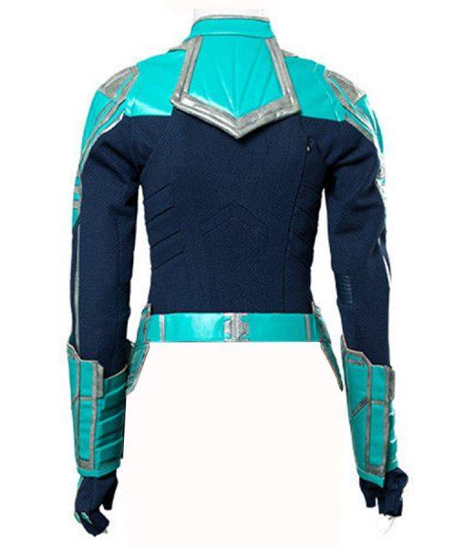 Captain Marvel Green Leather Jacket