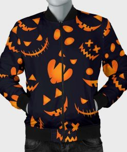 Halloween Pumpkin Pattern Jacket