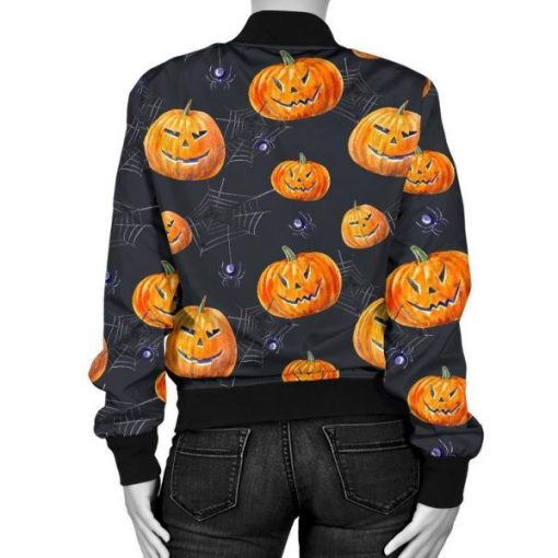 Halloween Pumpkin Print Jacket