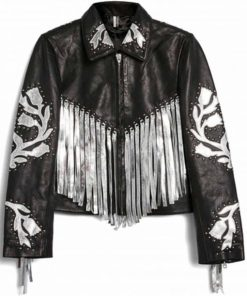 Harley Quinn Fringe Leather Jacket